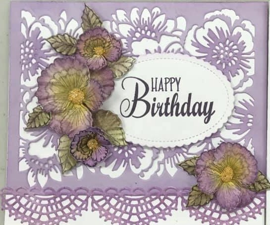 Birthday Card Pansy Purple Card