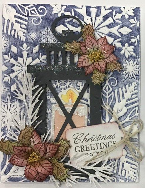 Larntern card Dark blue background