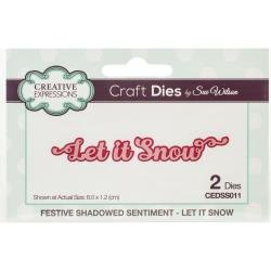 Creative Expressions Craft Dies By Sue Wilson-Festive Shadowed Sentiments-Let It...
