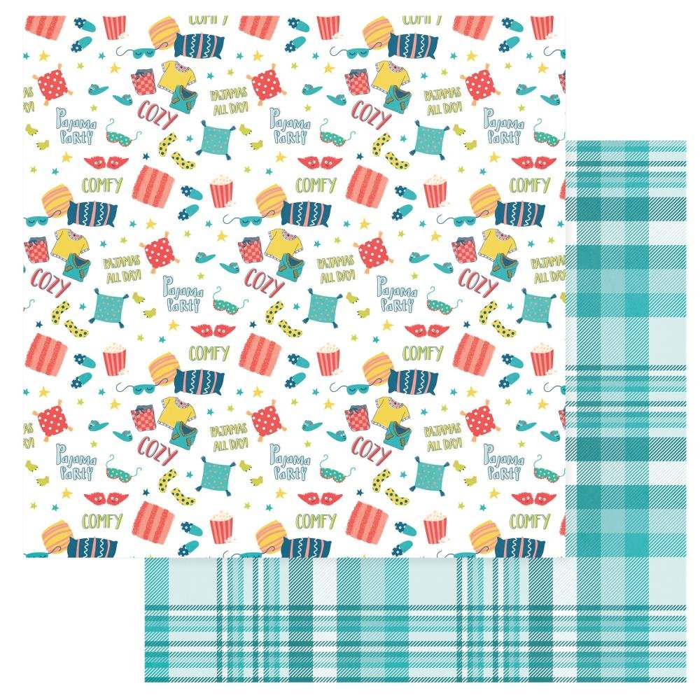 We Can Just Stay Home Double-Sided Cardstock 12X12-PJ's All Day