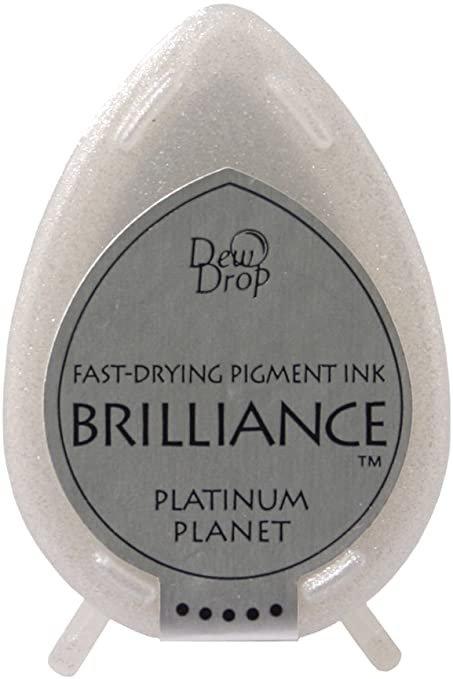 Brilliance Dew Drop Pigment Ink Pad-Platinum Planet