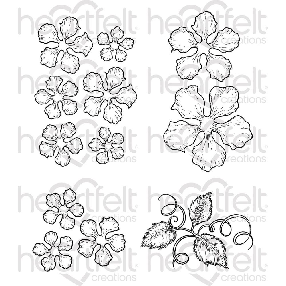 Heartfelt Creations Cling Rubber Stamp and die Set 5X6.5-Classic Rose