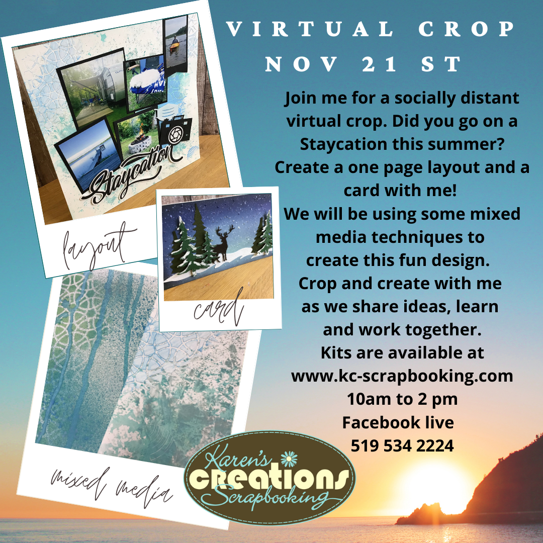 Staycation title and card kit for the Nov 21st crop