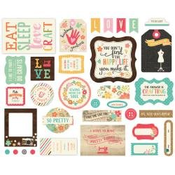 I'd Rather Be Crafting Cardstock Die-Cuts 33/Pkg Icons