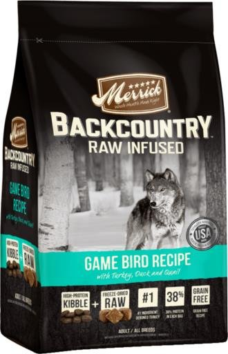 Merrick BackCountry Raw Infused Game Bird Recipe-4 lb