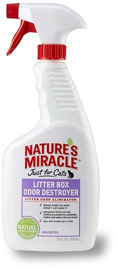 Nature's Miracle Just For Cats Litter Box Odor Destroyer-24 oz