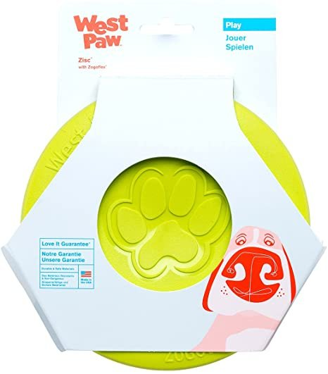West Paw Granny Apple Zisc Flying Disc-Small