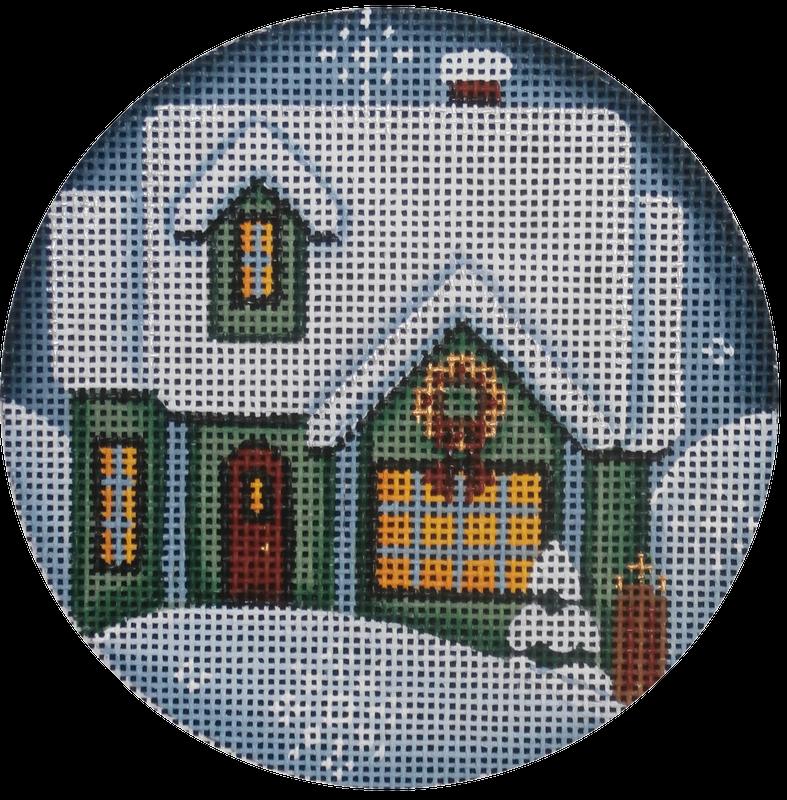 Green Christmas House