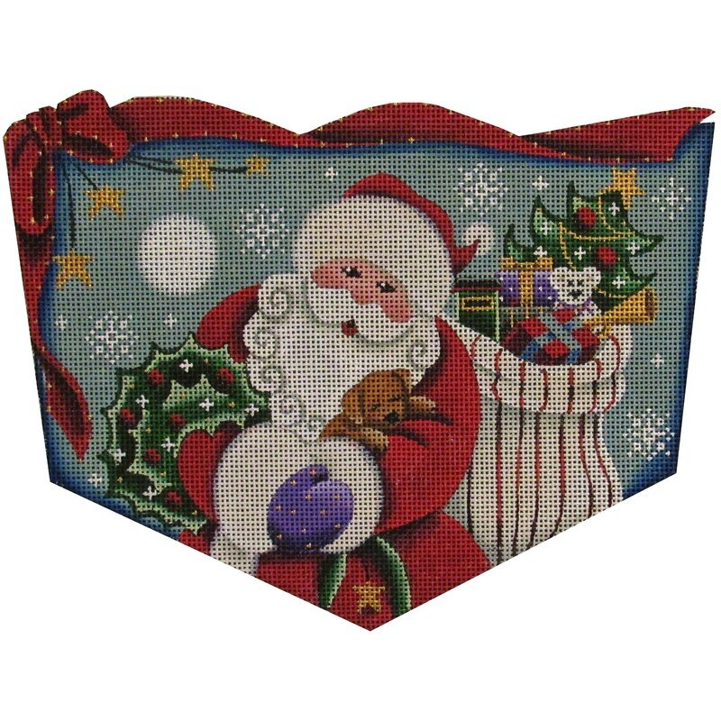 Santa with Puppy, 13 mesh