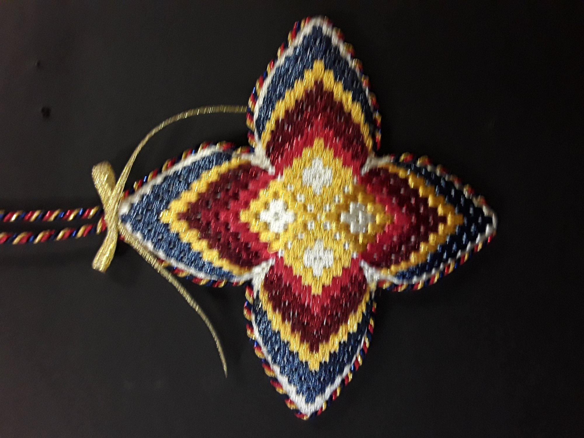 Bargello #5 Ornament - Stitched by Judy L.