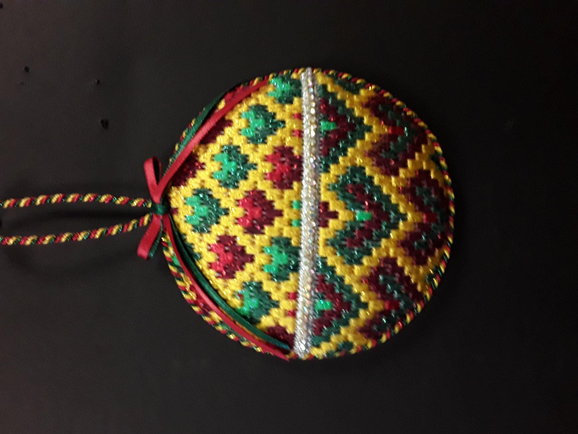Bargello Ornament #10 - Stitched by Chuck S.