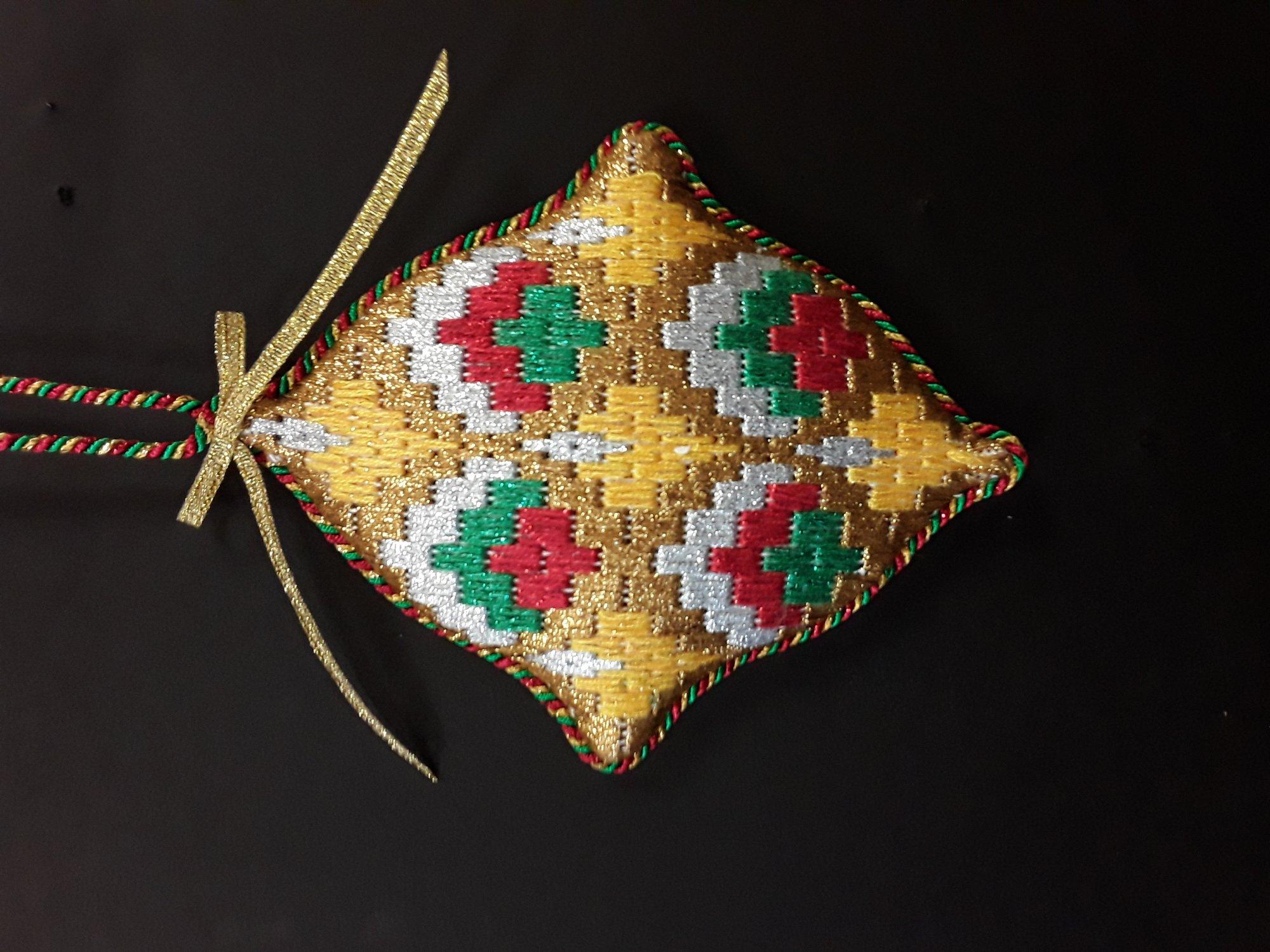 Bargello Ornament #11 - Stitched by Chuck S.