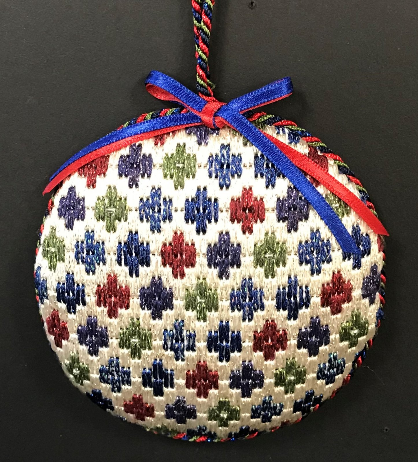 Bargello Ornament #4 - stitched by Stacey G.