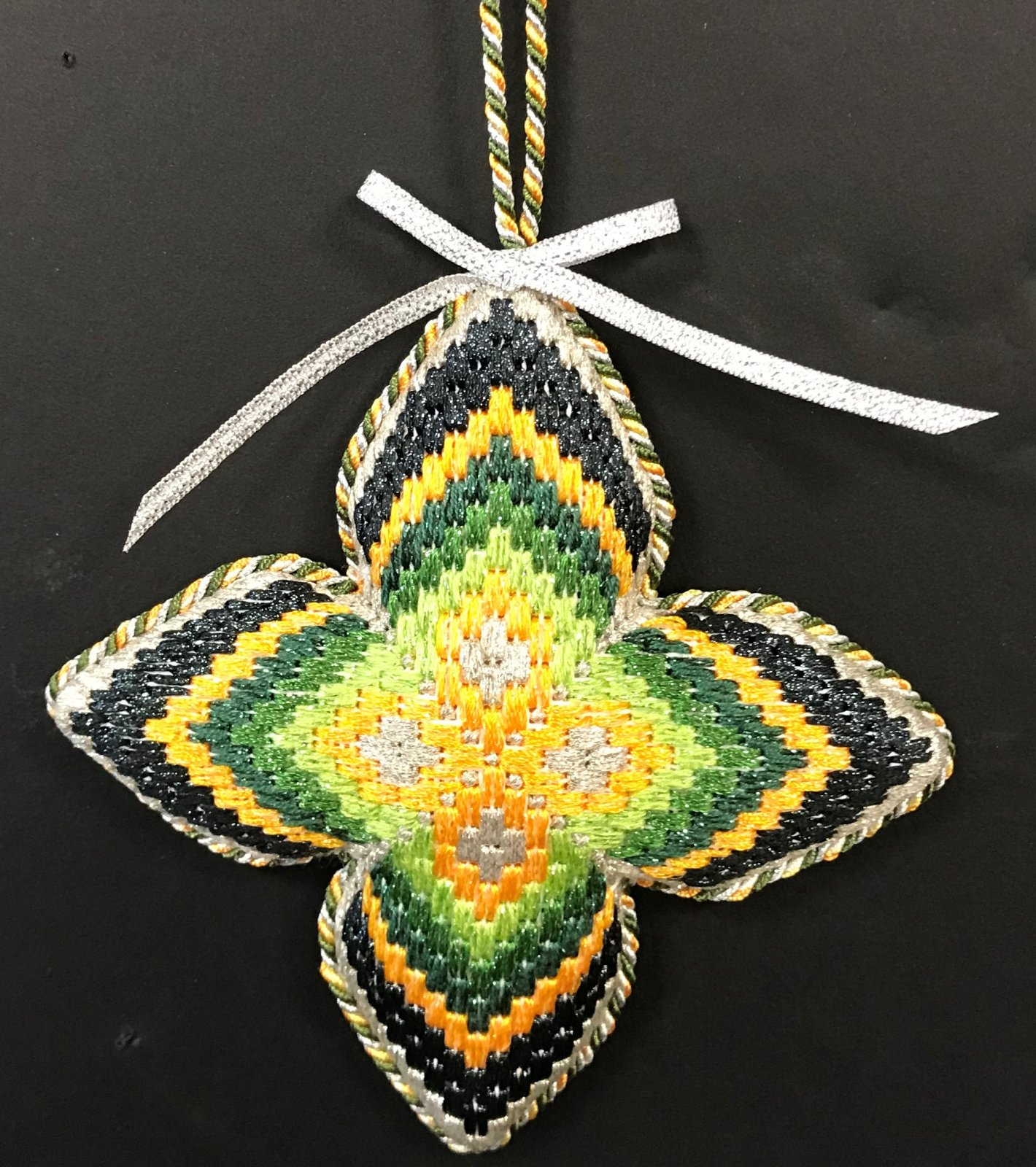 Bargello Ornament #5 - stitched by Stacey G.