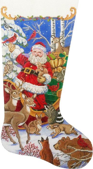 Santa's Animal Gathering Stocking