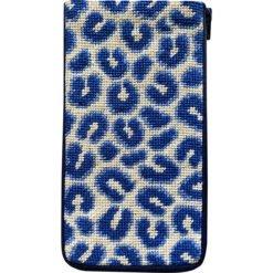 Eyeglasses Case - Navy Leopard