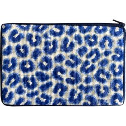 Cosmetic Case/Purse - Navy Leopard