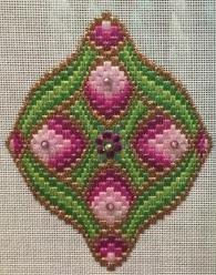 Bejeweled Bargello Ornaments #1