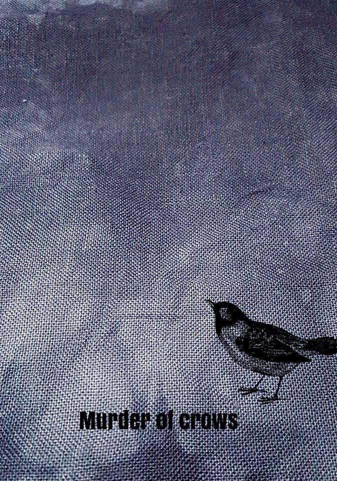 28Ct Linen - Murder of Crows - Ft. Eighth