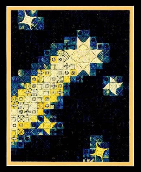 Blazing Stars (design size144x184- 8x10.25 on 18ct)