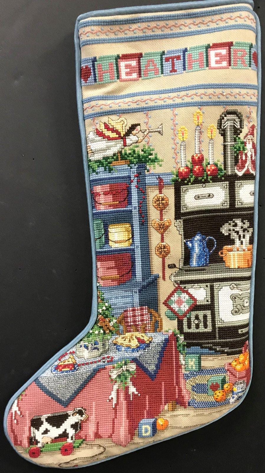 Heather XS Stocking - Stitched by Barbara S.