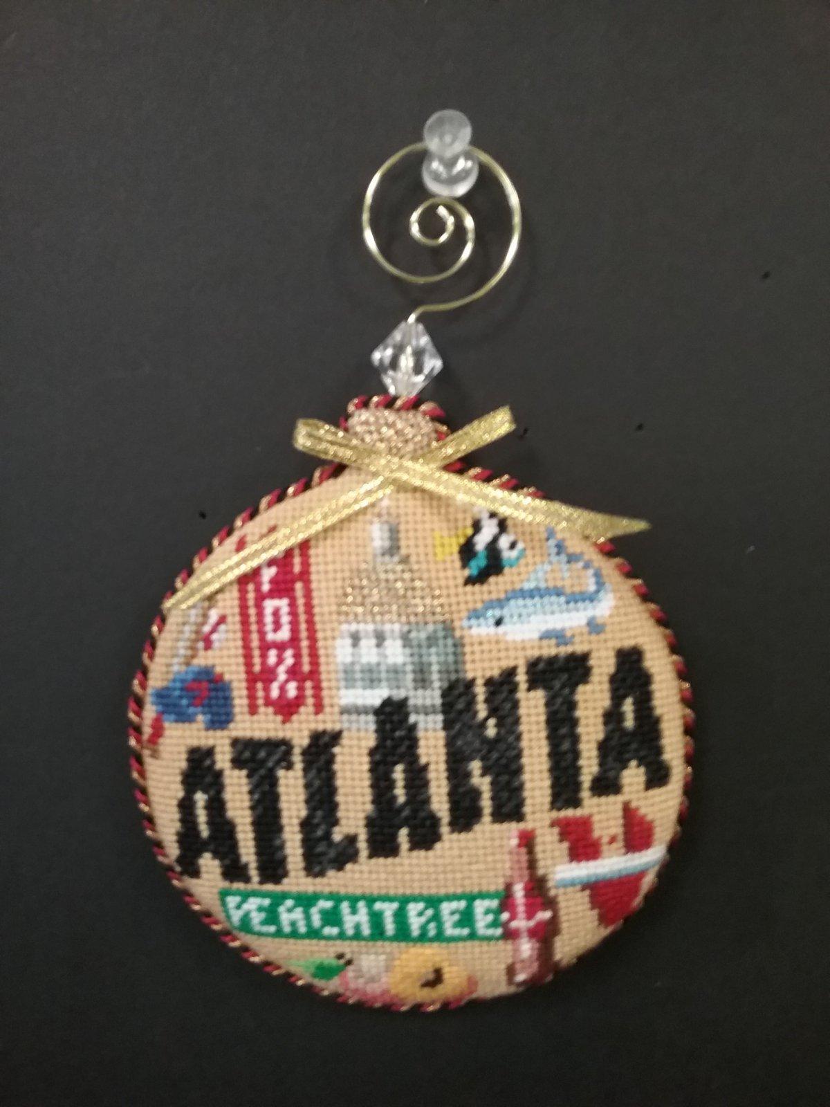 Atlanta Bulb Ornament - Stitched by Robin S.