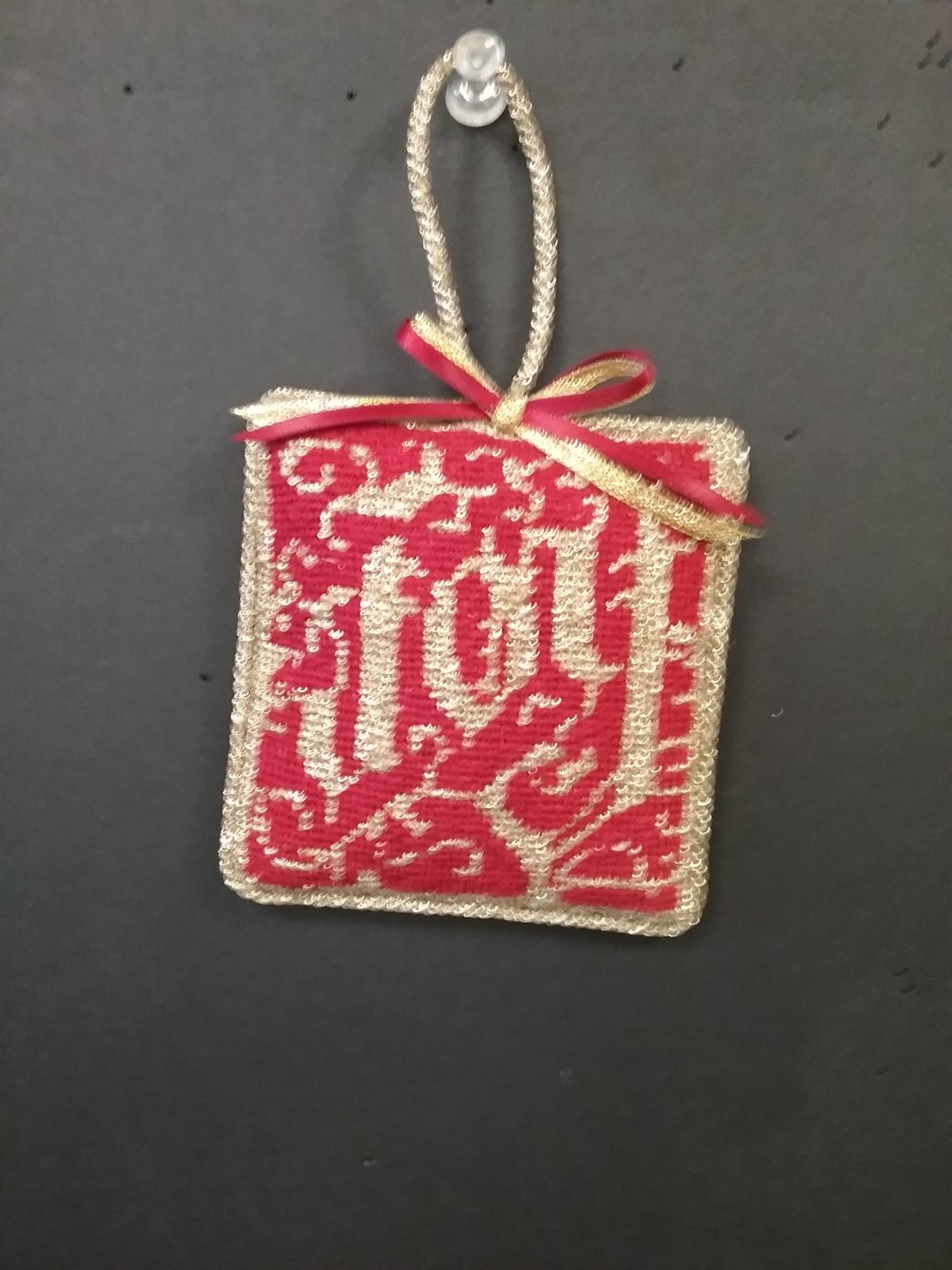 NP Joy Ornament - Stitched by Reidi L.