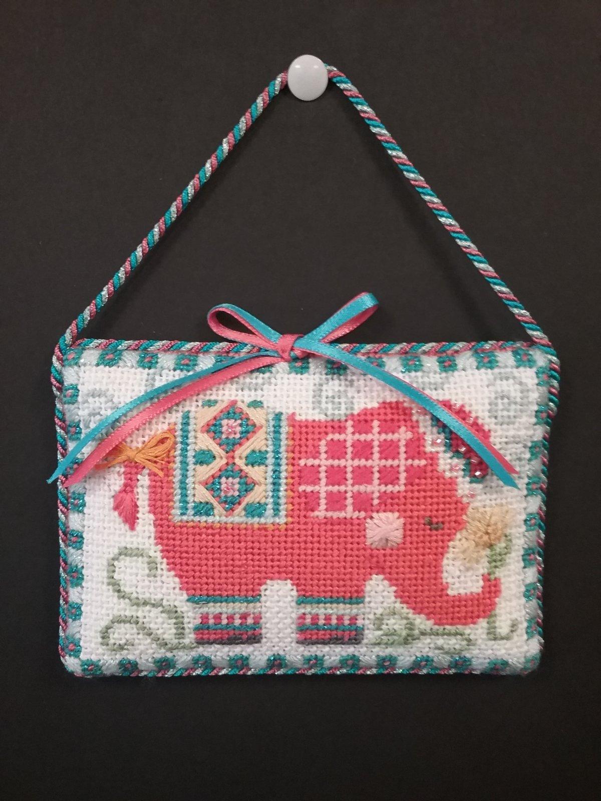 Danji Spring Elephant Ornament- Stitched by Cindy C.