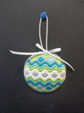 Bargello Ornament #8 - stitched by Deby T.