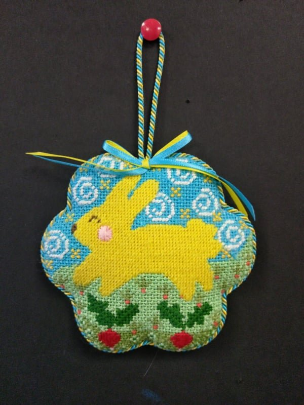 Danji Yellow Bunny Orn. - Stitched by Cindy C.