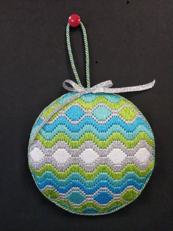 Bargello Ornament #8 - stitched by Cynthia B.