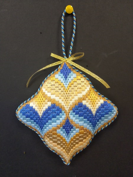 Bargello Ornament #9 -  Stitched by Judy L.