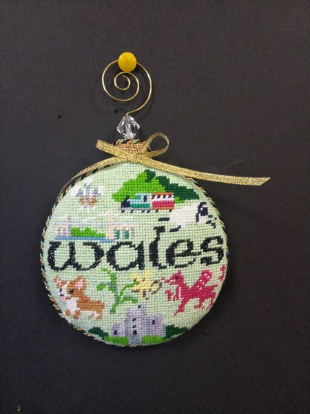 Wales Ornament -  Stitched by Barbara K.