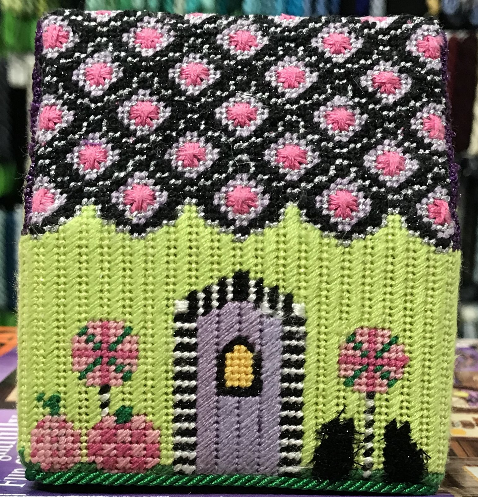 Halloween House - stitched by Cindy C.