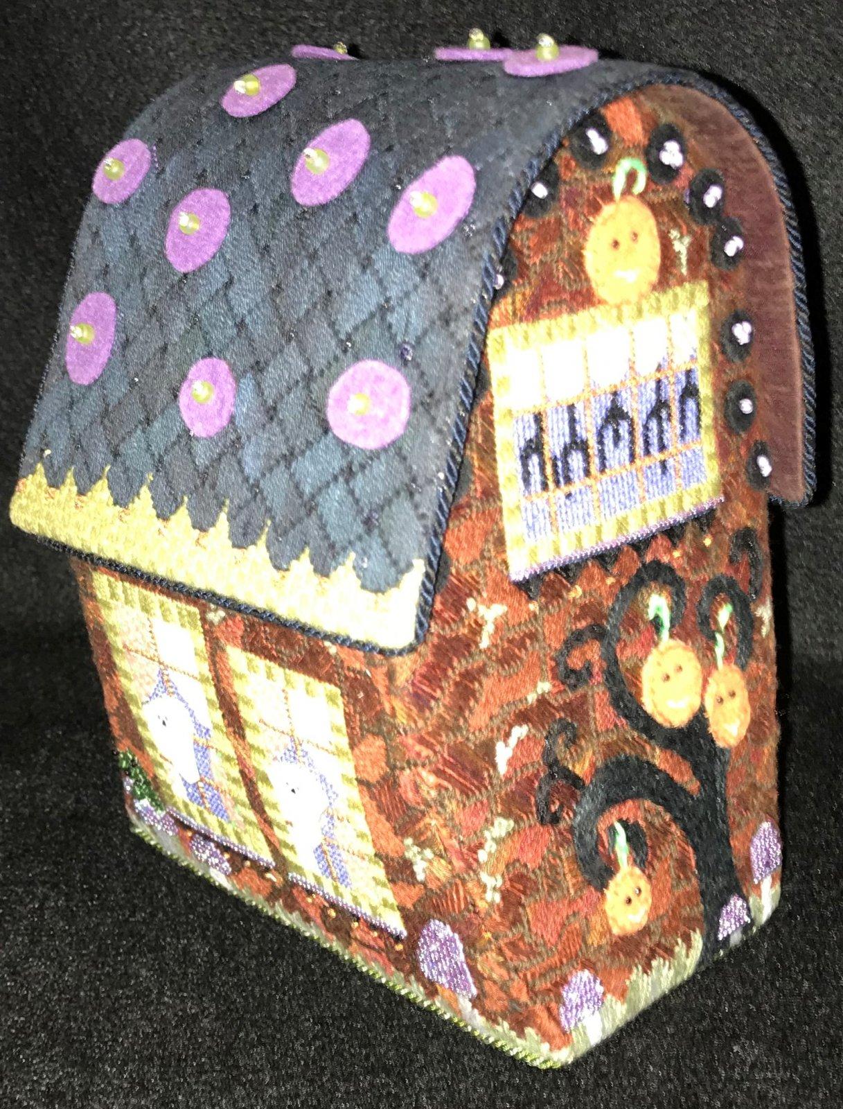 Wacky Halloween House - Stitched by Jann B.