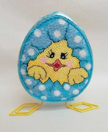 Cookie Cutter - Chick in Blue Egg w/ Legs