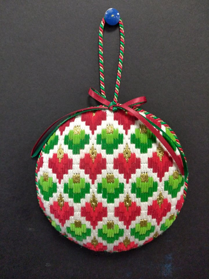 Bargello #6 Ornament - Stitched by Chuck S.