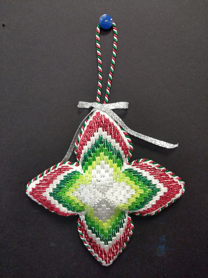 Bargello #5 Ornament - Stitched by Chuck S.