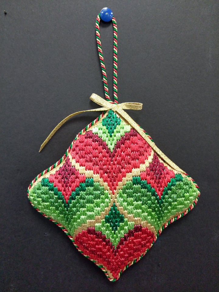 Bargello #9 Ornament - Stitched by Chuck S.