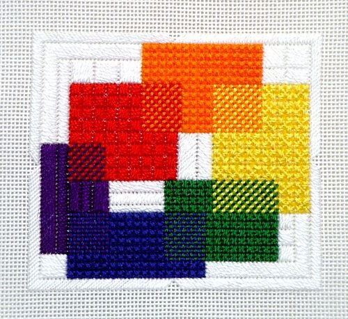 Cubistic Color Wheel (design size 4x3.5 on 18ct)