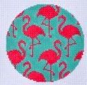 Flamingo Ornament (4 Round)
