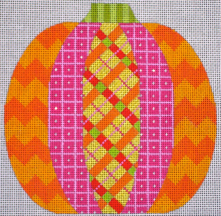 Patchwork Pumpkin - Plaid