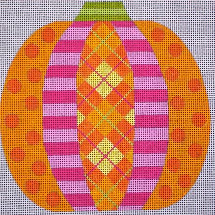 Patchwork Pumpkin - Argyle