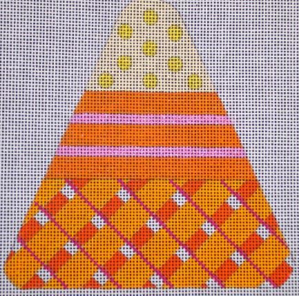 Candy Corn - Orange Plaid