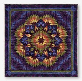 Purple Aster Garden (design size 178x178 - 9.9x9.9 on 18ct)