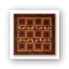 Log Cabin Stripe (design size 182x182 - 10.1x10.1 on 18ct)