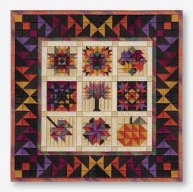 Autumn Barn Quilt (design size 184x184 - 10.23x10.23 on 18ct)