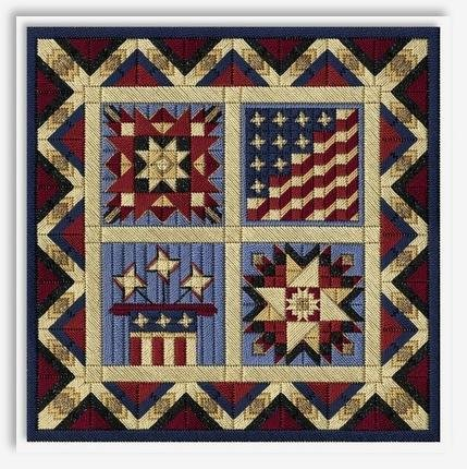 Celebrate American Barn Quilts (18ct.: 148x148 / 8.2x8.2)