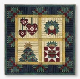 Christmas Barn Quilt (design size 148x148 - 8.23x8.23 on 18ct)