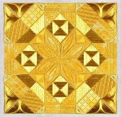 Glitz & Glamour Citrine (design size 108x108 - 6x6 on 18ct)